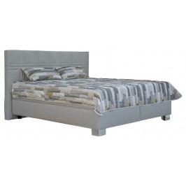 Manželská posteľ 180 cm Blanár Venus (sivá) (s roštami a matracmi Nelly Plus)