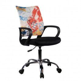 Kancelárska stolička Street (čierna + vzor)