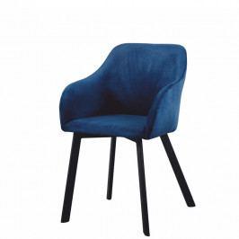 Jedálenská stolička Tandel (modrá + čierna)