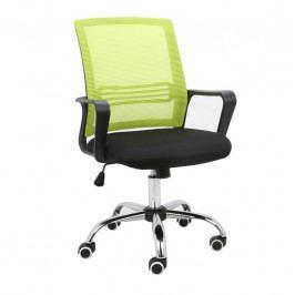 Kancelárska stolička Apolo (zelená + čierna)