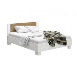 Manželská postel 180 cm Markos (borovica anderson + dub) (s roštom)