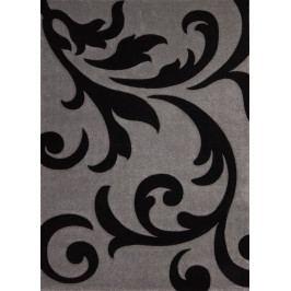 Kusový koberec Lambada Handcarving 451 Silver-Black (60 x 110 cm)
