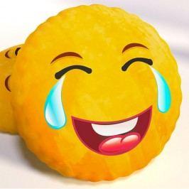 Dekoračný vankúšik smajlík LOL priemer 40 cm žltá