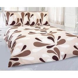 Krepové obliečky Carolyn hnedé jednolôžko - štandard, prikrývka: 1ks 140x200 cm, vankúš: 1ks 90x70 cm, gramáž: 140 g/m2 Krep