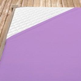 Flanelové prestieradlo fialové dvojlôžko Bavlna - flanel