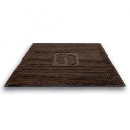 Kúpeľňová predložka Stopa hnedá 50x70 cm, 650 g/m2 bavlna