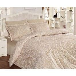 Obliečky Sweta béžové jednolôžko - štandard, prikrývka: 1ks 140x200 cm, vankúš: 1ks 90x70 cm, gramáž: 115 g/m2 Bavlnený satén