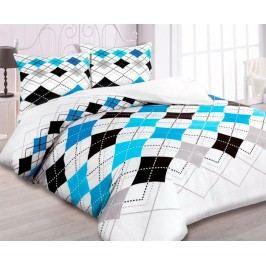 Flanelové obliečky Matteo modré jednolôžko - štandard, prikrývka: 1ks 140x200 cm, vankúš: 1ks 90x70 cm, gramáž: 140 g/m2 Flanel