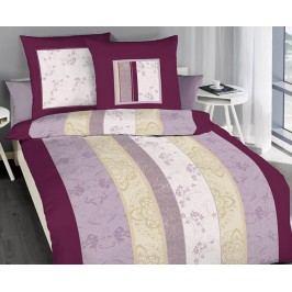 Obliečky Nobles fialové jednolôžko - štandard, prikrývka: 1ks 140x200 cm, vankúš: 1ks 90x70 cm bavlna