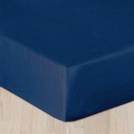 Modré prestieradlo hladké 160x220 cm - bez gumy Bavlnený satén