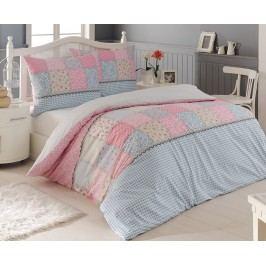 Krepové obliečky Elegante ružové jednolôžko - predĺžené, prikrývka: 1ks 140x220 cm, vankúš: 1ks 90x70 cm, gramáž: 125 g/m2 Krep