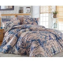 Obliečky Map jednolôžko - štandard, prikrývka: 1ks 140x200 cm, vankúš: 1ks 90x70 cm, gramáž: 120 g/m2 bavlna