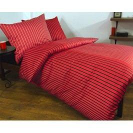 Obliečky Augusto červené 140x200 jednolôžko - štandard Bavlnený satén