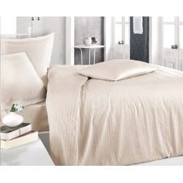 Atlasové obliečky kapučínové jednolôžko - štandard, prikrývka: 1ks 140x200 cm, vankúš: 1ks 90x70 cm, gramáž: 125 g/m2 Bavlnený satén