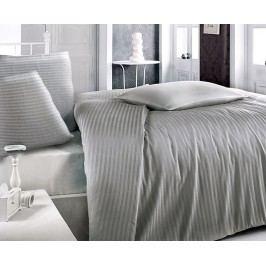 Atlasové obliečky šedé jednolôžko - štandard, prikrývka: 1ks 140x200 cm, vankúš: 1ks 90x70 cm, gramáž: 125 g/m2 Bavlnený satén