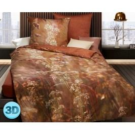 3D Saténové obliečky Floral jednolôžko - štandard, prikrývka: 1ks 140x200 cm, vankúš: 1ks 90x70 cm, gramáž: 120 g/m2 Bavlnený satén