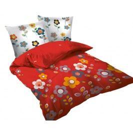 Obliečky Story Red jednolôžko - štandard, prikrývka: 1ks 140x200 cm, vankúš: 1ks 90x70 cm, gramáž: 118 g/m2 bavlna