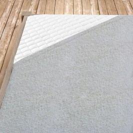 Napínacie froté prestieradlo šedé dvojlôžko - standard, 180x200 cm froté
