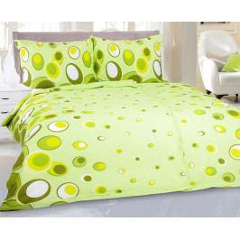 Krepové obliečky Bona zelené 140x220 jednolôžko - predĺžená Krep