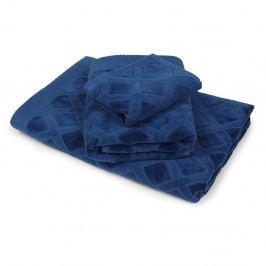 Veľký uterák Charles modrý 50x90 cm Uterák veľký
