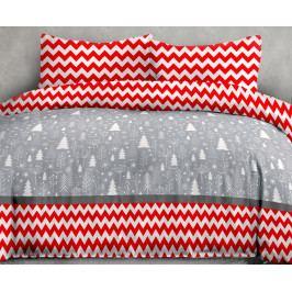 Flanelové obliečky Christmas 140x200 jednolôžko - štandard Flanel