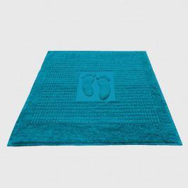 Kúpeľňová predložka Stopa tmavotyrkysová 50x70 cm bavlna