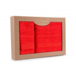 Darčeková sada uterákov Moreno červená set Dvojdielny komplet