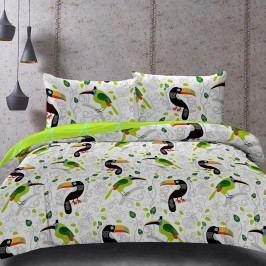 Obliečky Toucan 200x200 dvojlôžko Bavlnený satén