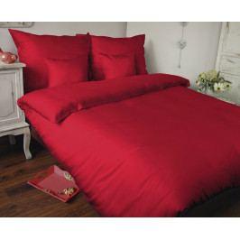 Obliečky Uni červené 140x220 jednolôžko - predĺžená Bavlnený satén