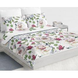 Obliečky Blooming garden 200x220 dvojlôžko - predĺžené Bavlnený satén