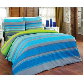 Obliečky Ella modré 140x200 jednolôžko - štandard bavlna