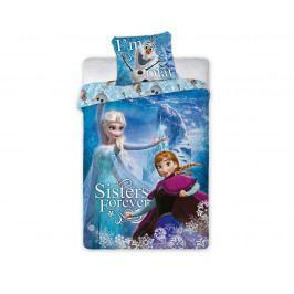Obliečky Ľadové kráľovstvo Sisters Forever 140x200 jednolôžko - štandard bavlna