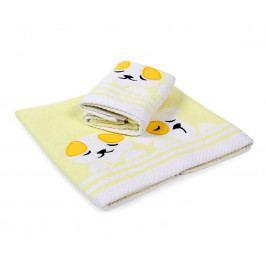 Detský uterák Dogs žltý 30x50 cm Uterák malý