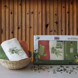 Darčeková súprava uterákov Olive 30x50 cm bavlna