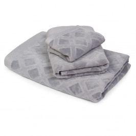 Malý uterák Charles sivý 30x50 cm Uterák malý