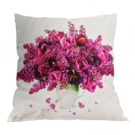 Dekoračný vankúšik Jarný kvet 45x45 cm farebná