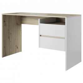 Písací Stôl Paco Dekor Dub Artisan/biela
