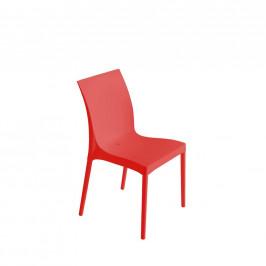 Plastová stolička Eset Červená