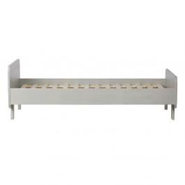 Sivá posteľ z masívneho borovicového dreva WOOOD Sammie, 95×205 cm