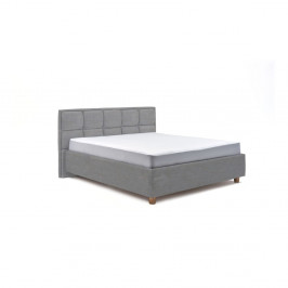 Svetlomodrá dvojlôžková posteľ s roštom a úložným priestorom PreSpánok Karme, 160 x 200 cm