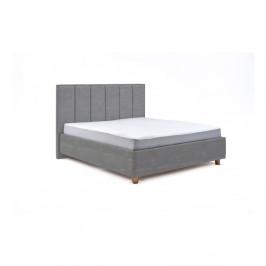 Svetlomodrá dvojlôžková posteľ s úložným priestorom PreSpánok Wega, 160 x 200 cm