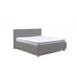 Svetlomodrá dvojlôžková posteľ s úložným priestorom PreSpánok Grace, 160 x 200 cm