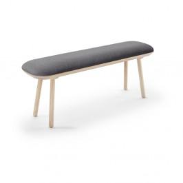 Sivá lavica EMKO Naive, 140 cm