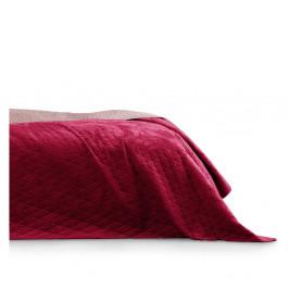 Červený pléd cez posteľ AmeliaHome Laila Mauve, 260x240cm