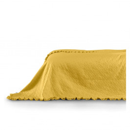 Žltý pléd AmeliaHome Tilia, 260x240cm