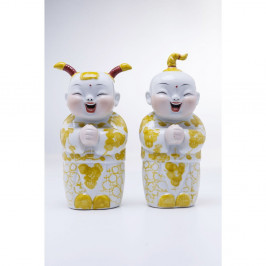 Sada 2 dekoratívnych figúrok Kare Design Happy Kids