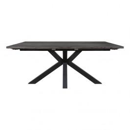 Šedý jedálenská stôl s černýma nohama Canett Maison, 100 x 180 cm