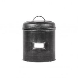 Čierna kovová dóza LABEL51, ⌀ 21 cm