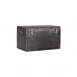 Čierny kovový úložný box LABEL51, dĺžka 40 cm