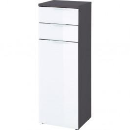 Bielo-sivá skrinka Germania Pescara, výška 112 cm